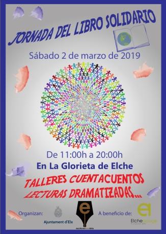cartel jornada libro solidario 2019